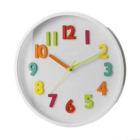 0c0a5cce7cda Reloj de Pared Infantil Blanco de plástico para Dormitorio Child - LOLAhome