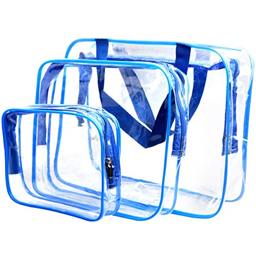 WIFUME 3 Set Clear Packing Cubes, PVC Waterproof Multi-funct