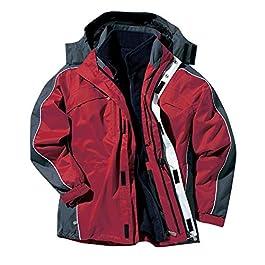 Jacamo Mens Jacket 3 in 1 Snowdonia Fleece Hooded Coat Rain Winter Red