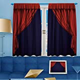 70% Blackout 2 Panels Curtains, Theater curtain Presentation Movies Thermal Insulated Drapes for Bedroom, 55''W x 63''L
