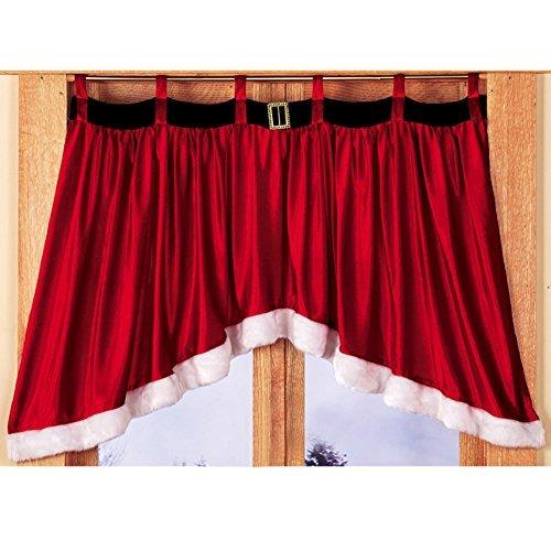 Gaosaili Door Window Drape Panel Christmas Curtain Xmas Home Decor