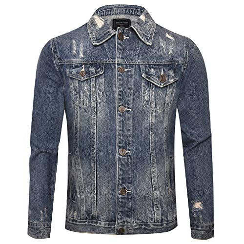 Just No Logo Men's Casual Denim Jacket(Light Blue,US Medium) ()