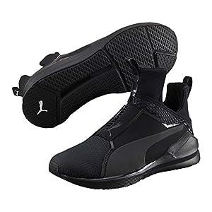 PUMA Women's Fierce Quilted Cross-Trainer Shoe, Black Black, 7.5 M US