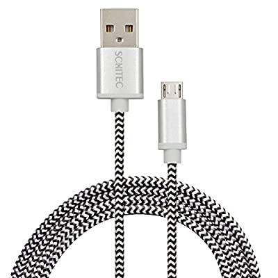 Micro USB Cable,SCHITEC 4 Pack 1FT 3FT 6FT 10FT High Charging Speed USB 2.0 A Male to Micro Nylon Braided Cords with Aluminum Connectors for Android,Samsung Galaxy Note,Nexus,HTC,LG,Nokia and more