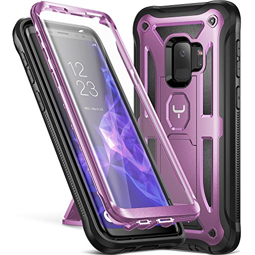 Galaxy S9 Case, YOUMAKER Heavy Duty Protection Kickstand