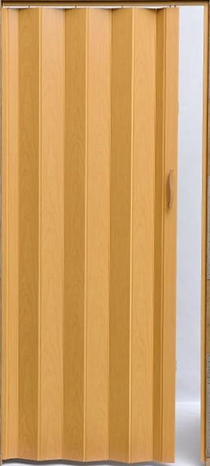 Puerta plegable corredera puerta plástico Puerta haya Colores Altura 203 cm ancho de montaje a 82 cm Doble pared Perfil nuevo: Amazon.es: Bricolaje y herramientas