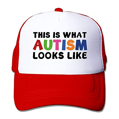 (This is What Autism Looks Like Mesh Women's Casual Trucker Baseball Hats)
