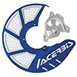 Acerbis X-Brake Vented Front Disc Cover with Mounting Kit Blue/White – Fits: KTM 450 EXC-F Six Days 2017–2018