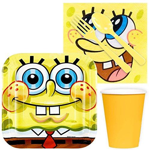 Costume SuperCenter Spongebob Birthday Party Standard Tableware Kit (Serves 8) -