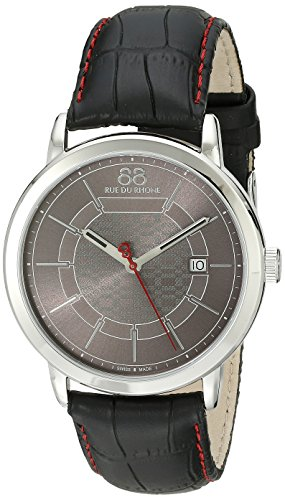 88-Rue-du-Rhone-Mens-87WA140026-Analog-Display-Swiss-Quartz-Black-Watch