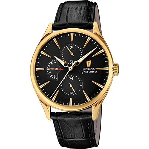 Men's Watch - Festina - Leather Band - Multifunction - F16993/2