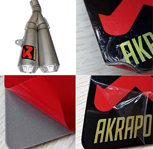 AKRAPOVIC Adesivo Sticker Alluminio 3D Alte Temperature Scarico Exhaust Liscio 8cm x 8,5cm
