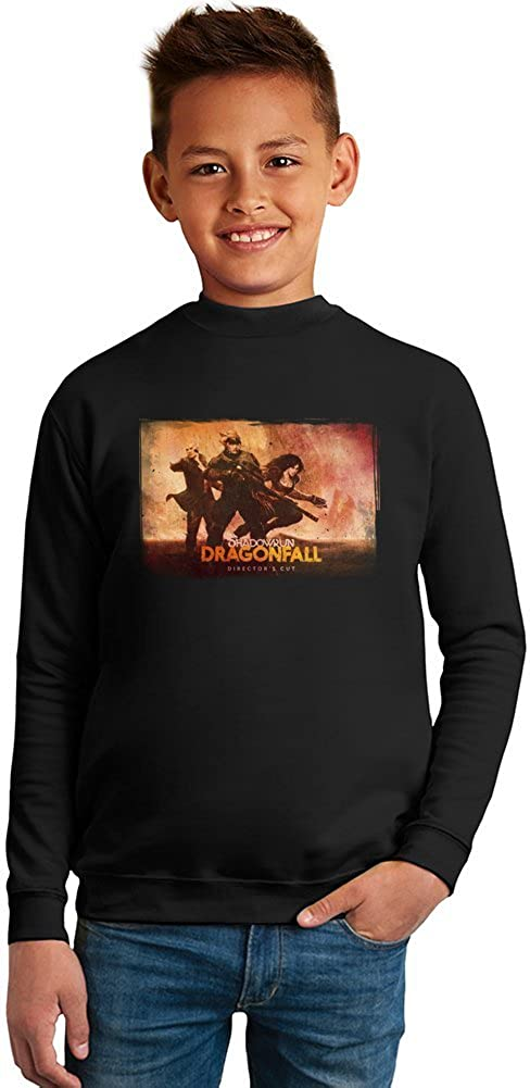 Shadowrun Poster Superb Quality Boys Sweater by TRUE FANS APPAREL - 50% Cotton & 50% Polyester- Set-In Sleeves- Open End Yarn- Unisex for Boys and Girls ...