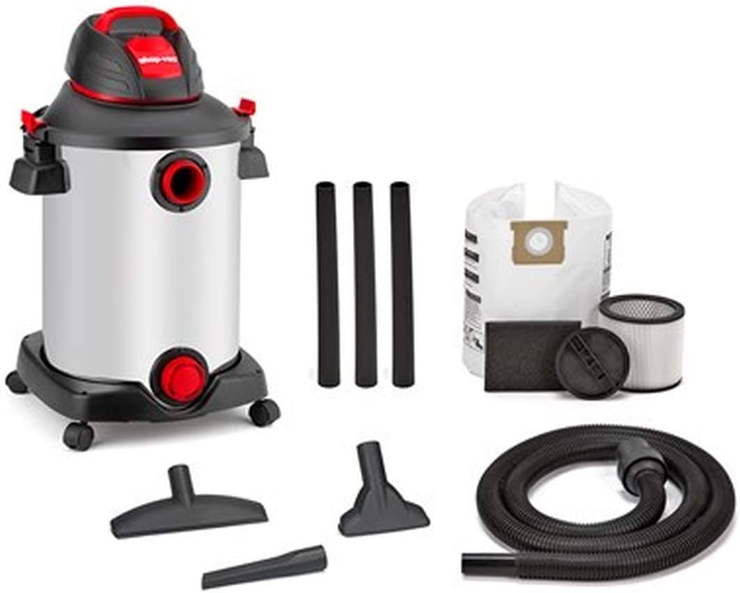 Shop-Vac 12-Gal 6 Peak HP Stainless Steel Wet/Dry Shop Vac - Corded