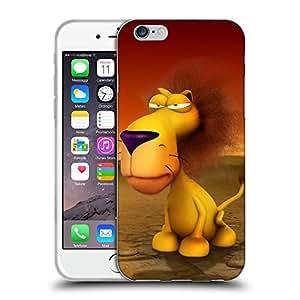 "Super Galaxy Coque de Protection TPU Silicone Case pour // V00000475 Animales divertidos 3D - León // Apple iPhone 6 4.7"""
