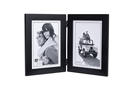 Amazon.com - Malden Double Vertical 5x7 Picture Frame - Wide Real ...