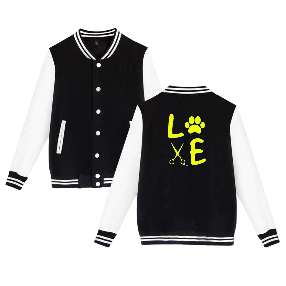 MF SFLK Dog Groomer Unisex Baseball Jacket Uniform Sweater Coat Sweatshirt