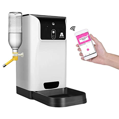 Alimentador Automático para Animales Domésticos para Perros y Gatos, Distribuidor de Comida y Agua con
