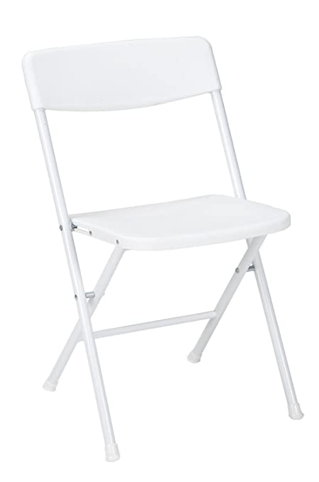 Strange Cosco Resin Folding Chair With Molded Seat And Back White 4 Pack Squirreltailoven Fun Painted Chair Ideas Images Squirreltailovenorg