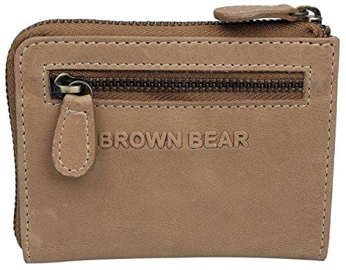 Brown Bear Mini Geldbörse Damen Leder vintage camel Anna ca