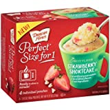 Duncan Hines Perfect Size for One Fruit Flavor Strawberry Shortcake Cake Mix 2.43ozx4( total 9.72oz)