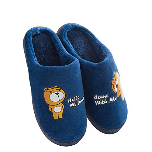 Confortable Femmes en Hiver Chaussons et 005 et Pantoufles d'intérieur Maison Coton Slip WDGT Pantoufles Peluche Chaudes pour on Couples Hommes Chaud antidérapantes x7SqEx8UwY