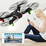 Inverlee Mini Q39W Foldable With Wifi FPV HD Camera 2.4G 6-Axis RC Quadcopter Drone Toys (Black)