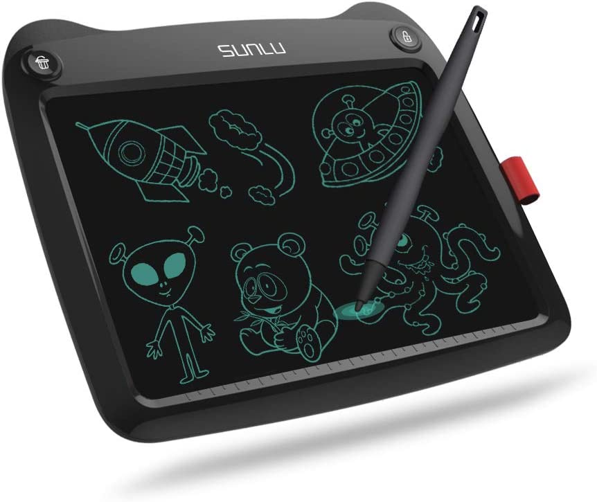 LCD Writing Tablet, Doodle Board 9'' Electronic Writing & Drawing Board, Kids Gift for Girls/Boys, Handwriting Paper Drawing Tablet Home & School Use,Black