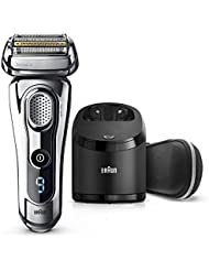 Braun Series 9 Men's Electric Foil Shaver with Wet & Dry Integrated Precision Trimmer & Rechargeable and Cordless Razor with Clean&Charge Station, 9296cc