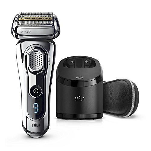 Series Small Shaver - Braun Series 9 Men's Electric Foil Shaver with Wet & Dry Integrated Precision Trimmer & Rechargeable and Cordless Razor with Clean&Charge Station, 9296cc