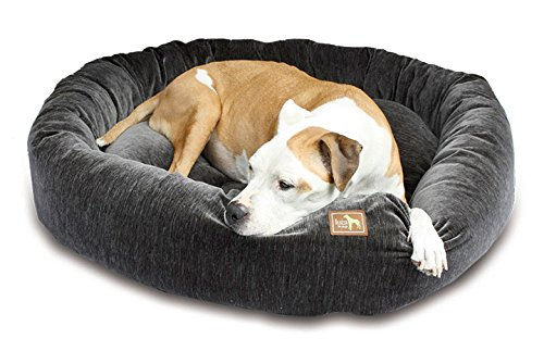 Luca For Dogs Nest Dog Bed, Medium 34''x34''x8'', Charcoal by Luca for Dogs