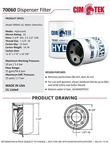 Cim-Tek 70060-12 400HS-10 Spin-On Filter for Water Detection 12-Pack by Cim-Tek (Image #1)