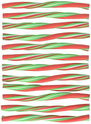 Festive Christmas Peppermint Stick Eraser Party Favour, Rubber, 6