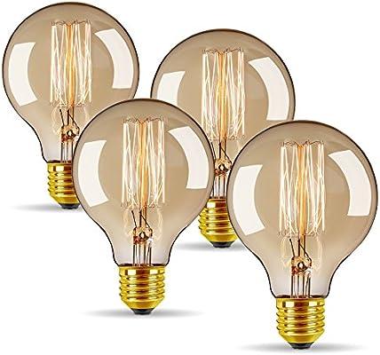 Antique Filament Edison Bulb E27 Screw Industrial Decor Light Lamp Globe G80 60W