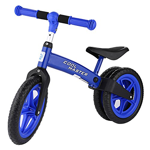Vividy 11'' Balance Bike Training No Pedal Push Bicycle, Light Weight Aluminum Balance Walker for Children 2-6Years Old (Blue-1)