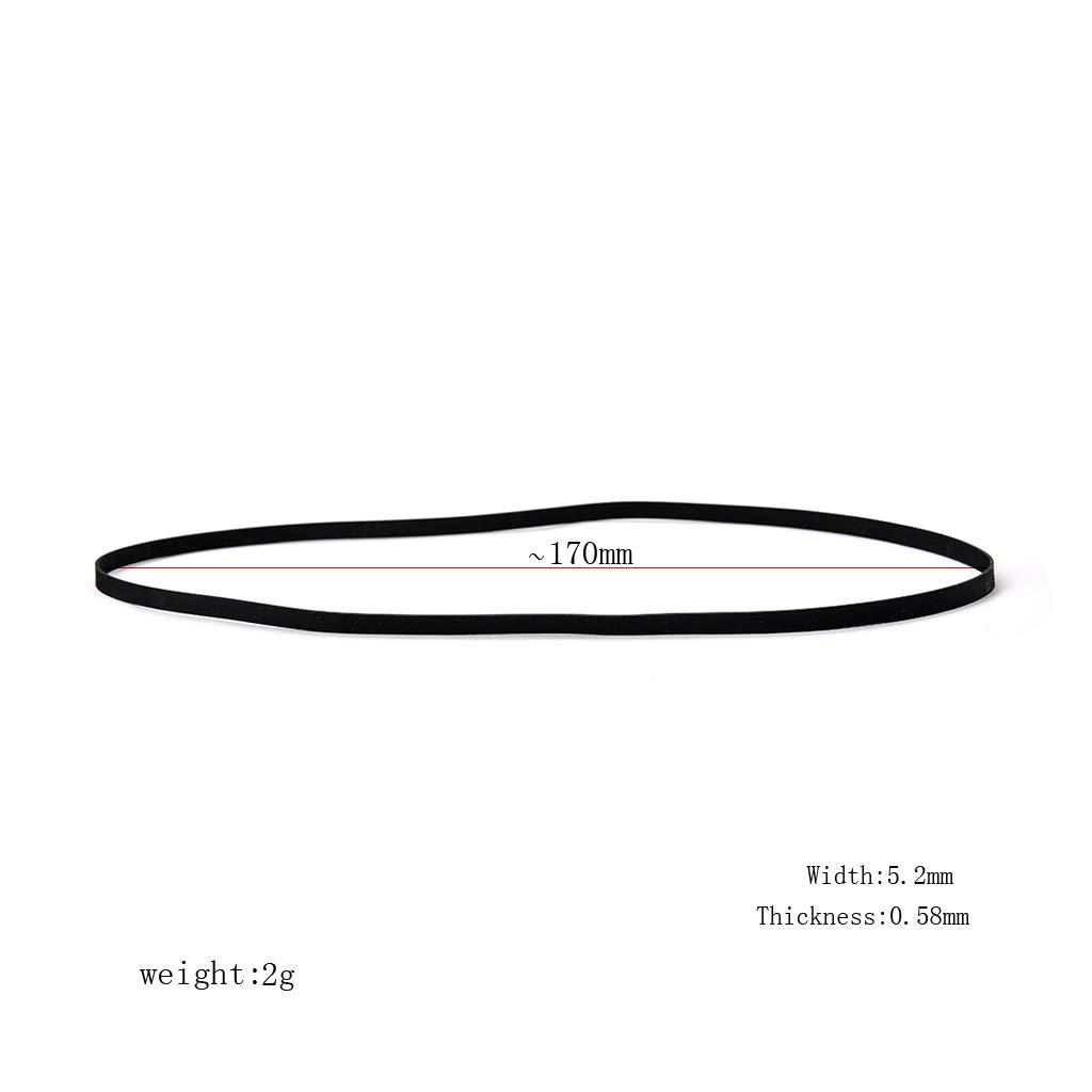 Correa de transmisi/ón para reproductor de fon/ógrafo per/ímetro de repuesto de 54 a 40 cm MM456