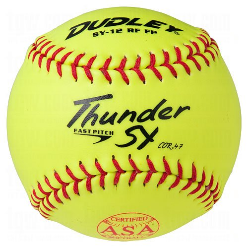 Dudley ASA Thunder SY 12'' (.47) Fast Pitch Softball - Synthetic Cover - Pack of 12 by Dudley