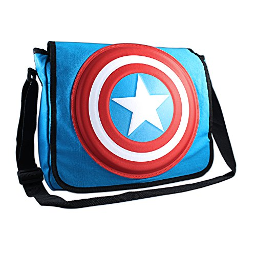 Silver Buffalo MC4701MB3 Marvel Captain America Shield 3D Messenger Bag