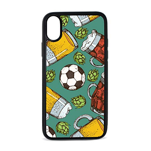 Case for iPhone Beer Party Drink Hand-Painted Ideas Digital Print TPU Pc Pearl Plate Cover Phone Hard Case Cell Phone Accessories Compatible with Protective Apple Iphonex/xsCase 5.8 Inch