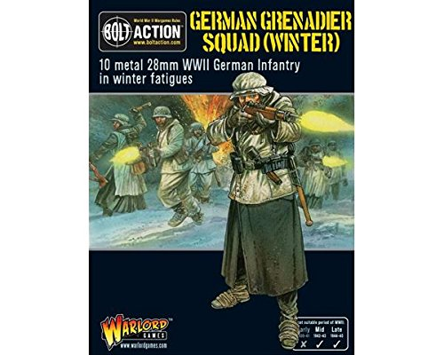 German Grenadiers In Winter Clothing, 28mm Bolt Action Wargaming Miniatures