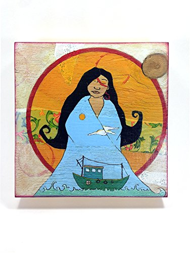 - Sea Vision- Small Art Print mounted on wood panel - Ready to Hang