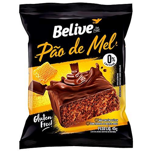 Pão de Mel 100% Coberto de Chocolate sem Glúten sem Lactose Belive 45g