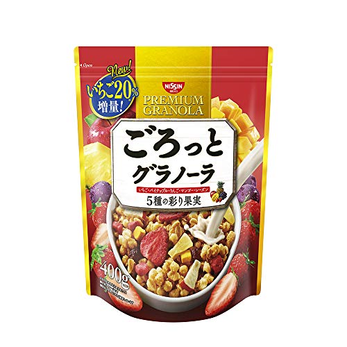 Nisshin - Gorotto Granola Five kinds of colorful fruits 400g-Fruit Granola