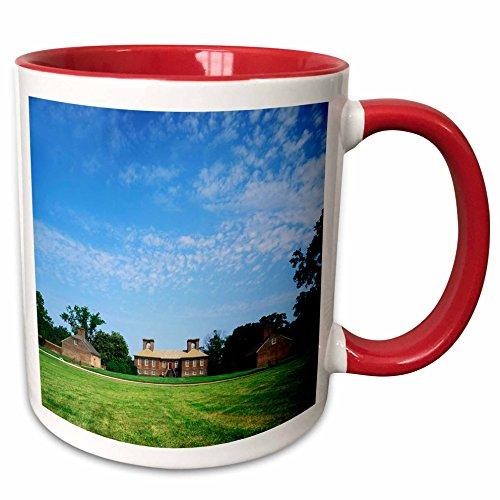 Stratford Hall Five Light (3dRose Danita Delimont - Charles Gurche - Plantations - USA, Virginia, Westmoreland County, Stratford Hall Plantation - 11oz Two-Tone Red Mug)