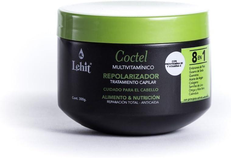 Lehit Coctel Multivitaminico Tratamiento Capilar Repolarizador Cuidado Para el Cabello Alimento & Nutrición Reparacion Total Anticaida 8 en 1 300g: Amazon.es: Belleza