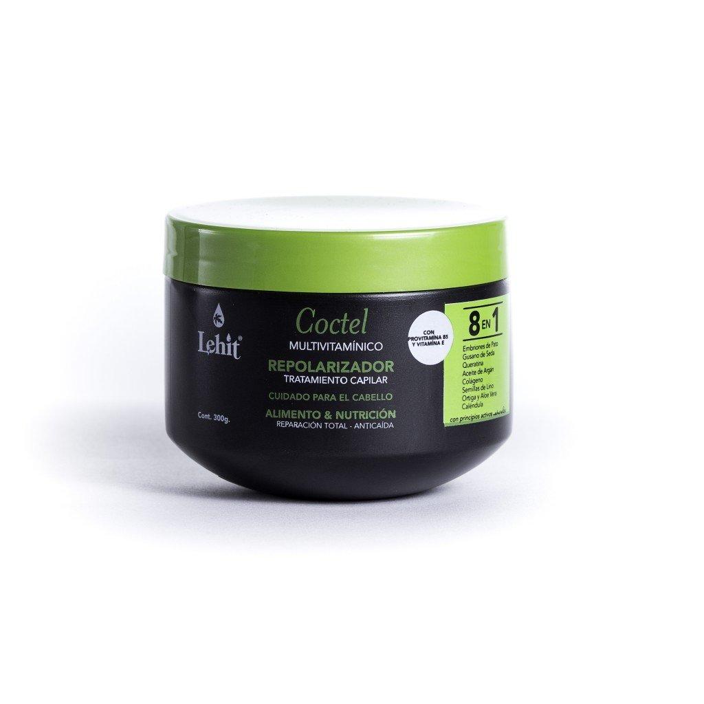 Lehit - Coctel 8 En 1 Multivitaminico Repolarizador Tratamiento Capilar Cuidado Para El Cabello Alimento Y Nutricion Reparacion Total Anticaida - Repolarizer Treatment Cocktail