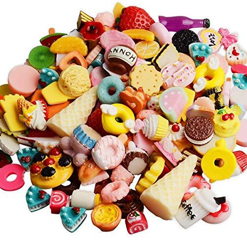Gemischte Lebensmittel aus Kunstharz von Zhichengbosi, Kawaii, Decoden, Cabochons, mit flacher Rückseite 30