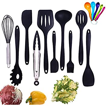 silicone kitchen utensil set 10 piece best kitchen utensils non stick cooking utensils - Best Kitchen Utensils