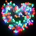 GYDING Globe String Lights, 32.8ft 100 LED Waterproof Color Changing Plug in Ball Starry Fairy Lights for Outdoor Indoor Home Garden Bedroom Patio Wedding Party Fence Christmas Tree