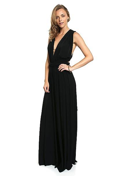 Vestido negro largo lob